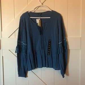 Brand new Lucky brand blue shirt super soft!